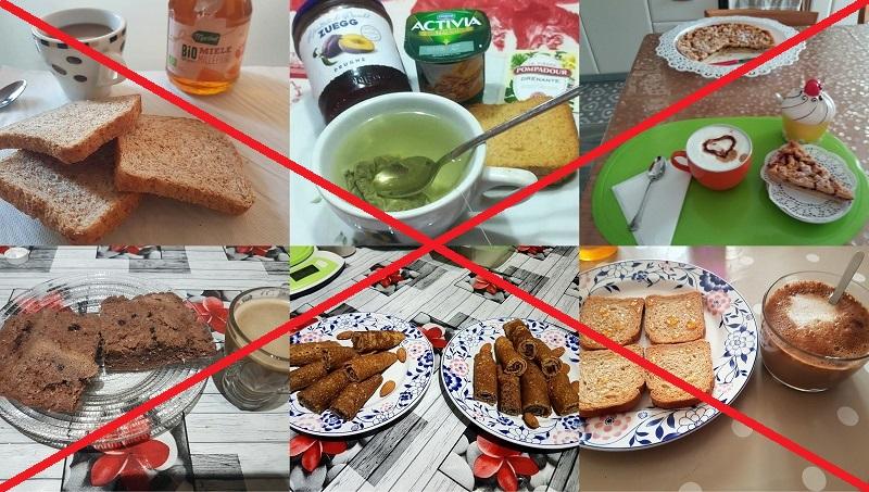 colazione povera in calorie ma malsana perche sbilanciata - blocco metabolismo