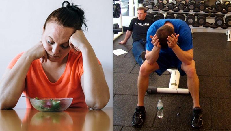 stress fisico e mentale che blocca perdita peso